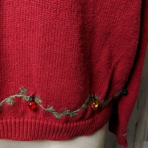 Woolrich Sweaters - WOOLRICH Red Holiday Sleigh Sweater Lights PXL